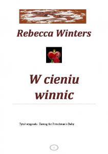 Winters Rebecca W cieniu winnic