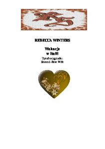Winters Rebecca Wakacje w Italii