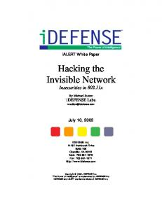 Wireless Hacking - The Invisible Network